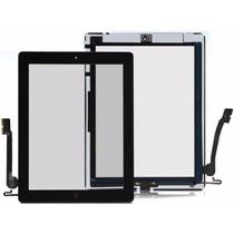 Tela Vidro Touch Ipad 4 + Home + Adesivo A1458 A1459 A1460