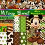 Kit Mickey Safári Decoração Personalizados Festa Infantil