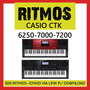 Ritmos Casio Ctk 6250-7000-7200