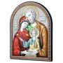 Sagrada Família, Quadrinho De Mesa Italiano Prata, Quadro