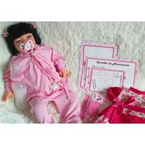 Boneca Barata Bebe Menina Verdade Reborn 16 Itens