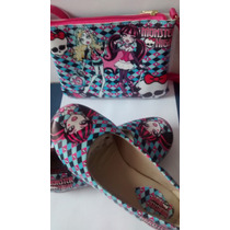 Sapatilha Infantil Monster High+ Bolsa Sapato Calçado Crianç
