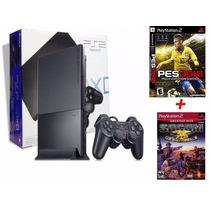 Playstation 2 Destravado 1 Controles + Memory Card +2 Jogos