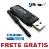 Adaptador Usb Bluetooth 2.0 Dongle Com Antena Frete Gratis