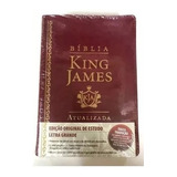 Bíblia De Estudo King James Atualizada - Letra Grande Bordo