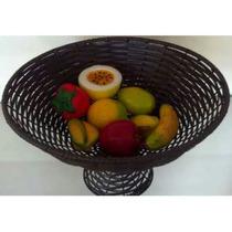 Fruteira Redonda De Junco Sintético