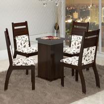 Conjunto Para Sala De Jantar Mesa E 4 Cadeiras Viero Paris