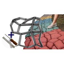 Forma Para Piso Jardim Para Concreto Easy-piso - Alumínio