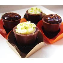 Copinhos De Chocolate Ao Leite (50 Unidades) + Brinde