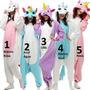 Unicórnio Pijama Kigurumi Plush Macio Com Asas