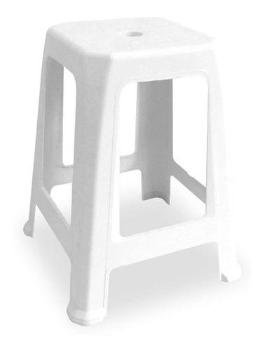 Banco Plástico Tambouret Branco