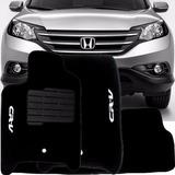 Tapete Carpete Honda Crv À Partir De 2012 Bege  - 3 Pçs