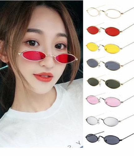8e9f05568 Óculos Retrô Pequeno Sol Vintage Proteção Uv400 Oval Colorid - R$ 39 ...
