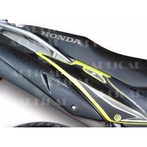 Adesivo Fibra De Carbono P Rabeta Lat. Honda Bros,proteção