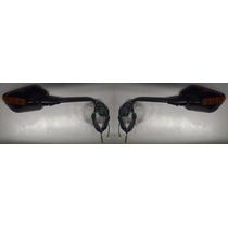 Retrovisor Com Piscas Para Motos Yamaha Lente Laranja