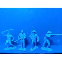 Lote 4 Soldados Da União (pintura) - Marx U S A - 1/32