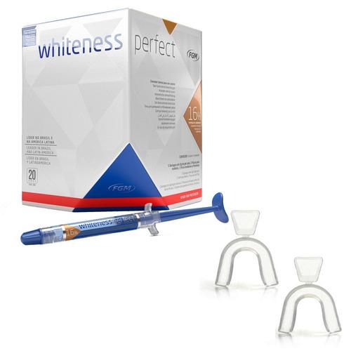 Clareador Dental Kit Whiteness Perfect 16 Fgm Moldeira R 115