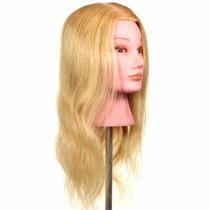 Cabeça Para Treino De Penteado 100% Cabelo Natural Cor-loira
