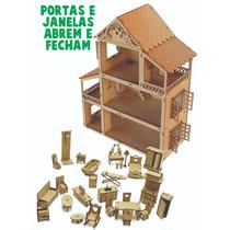 Casa Casinha De Boneca Polly +34 Mini Móveis +nome