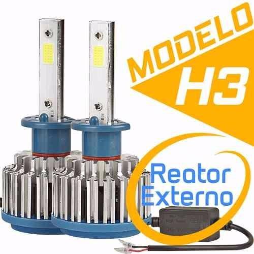 Par Lampada Super Led Xenon 7600 Lumen H1 H4 H7 H11 6000k 40