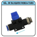 Conexão Pneumática Válvula Bloqueio 6mm X 1/8 Rosca - Tubo