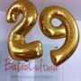 Balão Metalizado Numero Gigante Dourado