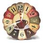 Relógio Decorativo De Parede Madeira Cafe Retro Original
