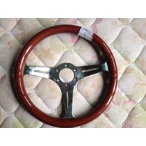 Volante D Madeira Importado S/cubo S/ Buzina P/fusca