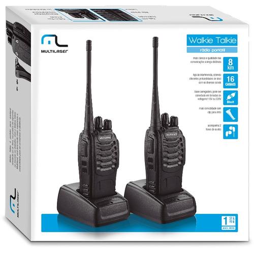 Rádio Comunicador Walk Talk 16 Canais 8km Tv003 Frete Gratis