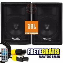 Kit Caixa Ativa + Passiva Master Audio Falante Jbl 15 480w