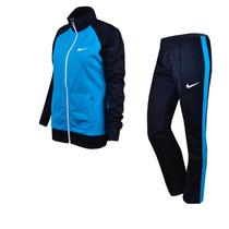 Agasalho Nike Feminino Raglan Polywarp Original Azul/preto