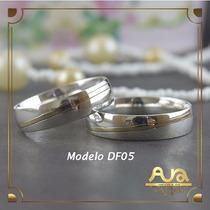 Alianças Em Ouro E Prata 5mm - Frete Grátis- 12x S/juros