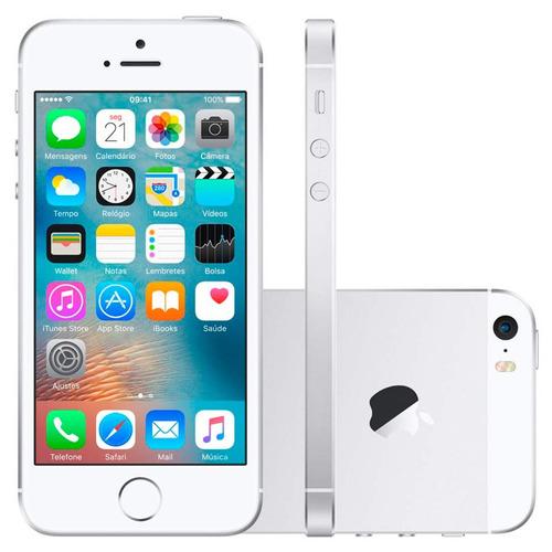 Iphone Se 16gb Prata Apple Mllp2 - 4g, 12 Mp + Frontal