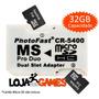 Psp E Câmeras - Photofast Adaptador Micro Sd P/ Memory Stick
