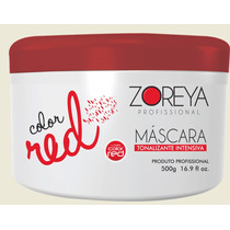 Mascara Vermelha C/ Pigmento De Tinta, Tintura Nunca Mais