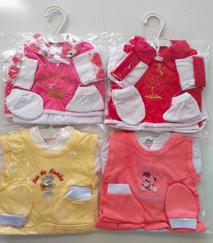 7551556fd9 Kit 4 Conjuntos Pagão P Menino Ou Menina Recém Nascido Bebê