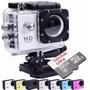 Kit Câmera Filmadora Esportiva Hd 1080p Capacete Cartão 32gb