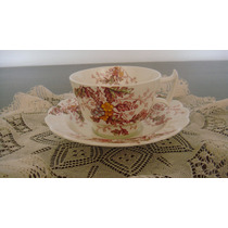 Código 294 - Linda E Diferente Xícara De Chá Antiga Inglesa