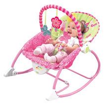 Cadeira Bebê Descanso Vibratória Balanço Musical Princesas