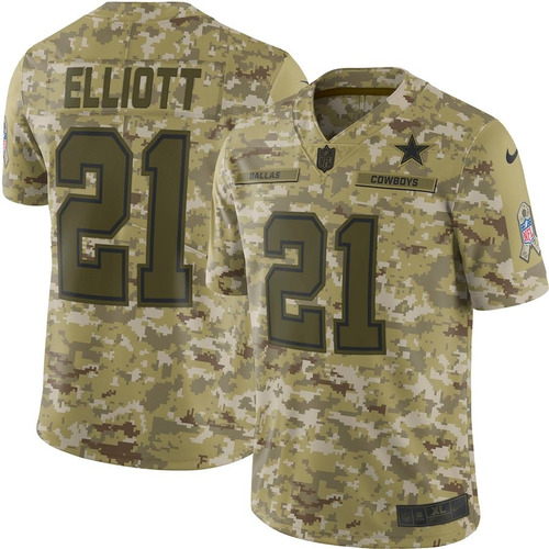 ae6a885fc9 Camisa Nfl Dallas Cowboys Salute To Service  21 Witten - R  199 en ...
