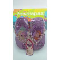 Sandálias Havaianas Frozen Bebê Decorados Custumizados