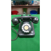 Aparelho De Telefone Preto Em Baquelite Ctb