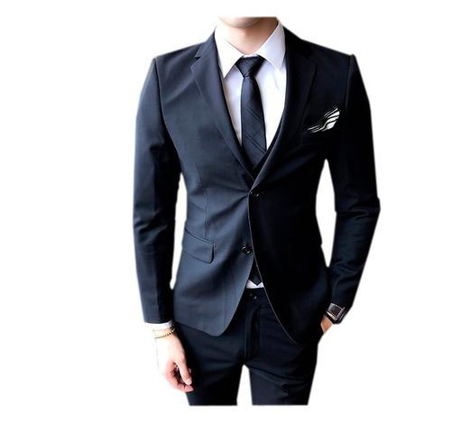 9b6273091072e Blazer Oxford Masculino Slim Fit Paletó + Calça + 2 Botões. R  153.99