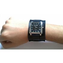 Kit 2 Pulseiras Bracelete Em Couro Para Relógio Frete-gratis