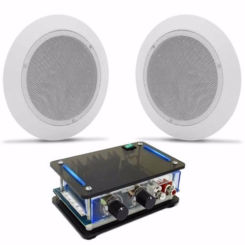 Kit Som Ambiente Receiver Slim 2 Arandelas Brancas