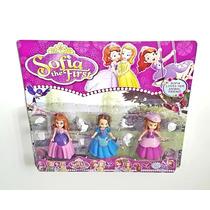 Kit 3 Bonecas Coleção Princesa Sofia E Acessórios Lindas