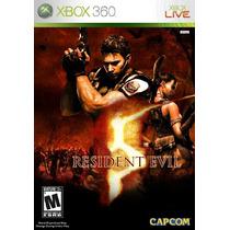 Manual Instruções Jogo Resident Evil 5 Xbox 360 Original