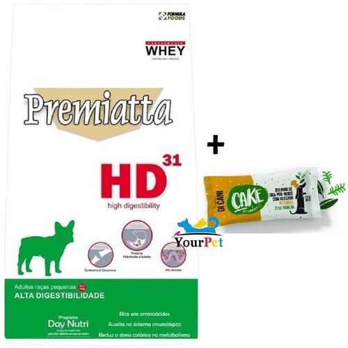 Ração Premiatta Hd 31 Cães Adultos Raças Pequenas 6kg + Cake - R ...