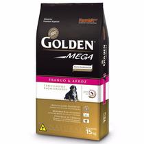 Ração Golden Mega Cães Filhotes Raças Grandes 15 Kg + Brinde