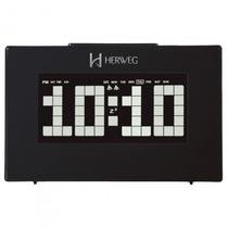 Relógio Despertador Herweg 2963 034 Termômetro - Refinado